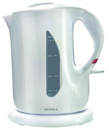 Чайник Supra KES-1001 1000 Вт 1 л пластик белый