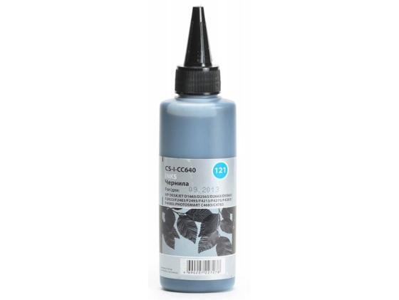 Чернила Cactus 121 CS-I-CC640 для HP DeskJet D1663/D2563/D2663/PhotoSmart C4683/C4783 100 мл черный заправка cactus 121 для hp deskjet d1663 d2563 photosmart c4683 c4783 2x30мл цветной cs rk cc643