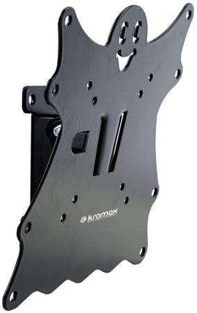 Кронштейн Kromax CASPER-201 черный LED/LCD 20-43 1 степень свободы наклон +5°-15° 50 мм от стены VESA 200x200 max 30 кг цена