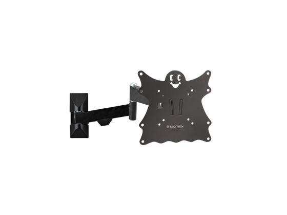 Фото - Кронштейн Kromax CASPER-204 черный LED/LCD 20-43 5 степеней свободы наклон +5°-15° поворот 180° 57-410 мм от стены VESA 200x200 max 30 кг кронштейн kromax casper 204 черный