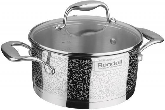 Кастрюля Rondell Vintage RDS-344 5л 24см стеклянная крышка нержавеющая сталь серебристый кастрюля rondell latte 3 5л 24см алюм покр антиприг стекл крышка
