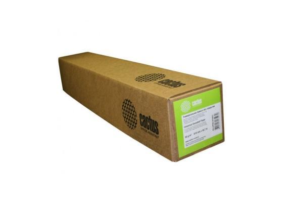 Бумага для плоттера Cactus CS-LFP90-914457 36 914мм х 45.7м 90г/м2 без покрытия втулка 50.8мм цена