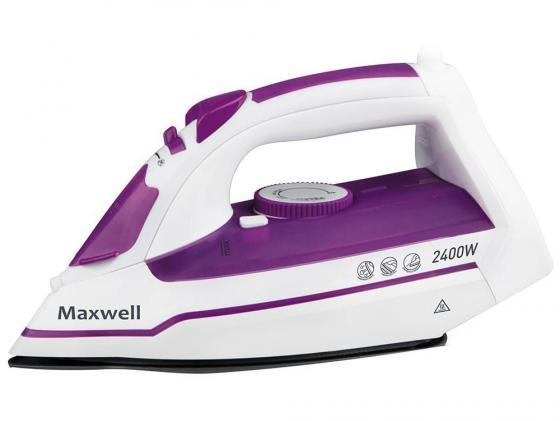 Утюг Maxwell MW-3035-VT 2400Вт белый-фиолетовый утюг maxwell mw 3041 vt