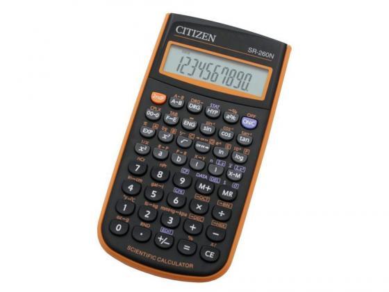 Калькулятор Citizen SR-260NOR 10+2 разряда научный 165 функций черно-оранжевый калькулятор citizen sr 260nor black orange