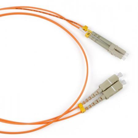 Патч-корд волоконно-оптический (шнур) Hyperline FC-50-LC-SC-PC-2M MM 50/125, LC-SC, duplex, LSZH, 2 м цена и фото