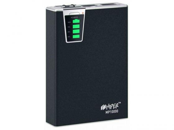 Портативное зарядное устройство HIPER Power Bank MP10000 10000мАч 2x USB 1/2.1А картридер SD фонарик черный 2x 7 inch twins hd digital screen car headrest dvd player pillow usb sd port free two ir headphones remote control car pillow