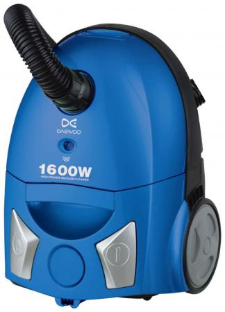Пылесос Daewoo RC-5500SA с мешком сухая уборка 1600Вт синий пылесос daewoo electronics rc 5500sa с пылесборником