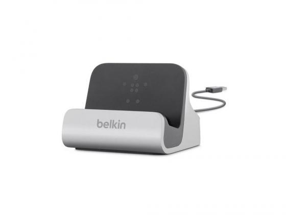 Док-станция Belkin F8J045bt для iPhone 5/5S/5С серебристый док станция belkin powerhouse для apple watch iphone белый
