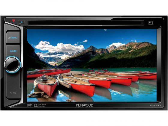 Автомагнитола Kenwood DDX-155 6.2 800х480 USB MP3 CD DVD FM 2DIN 4x40Вт пульт ДУ черный автомагнитола cd mp3 kenwood kdc bt500u