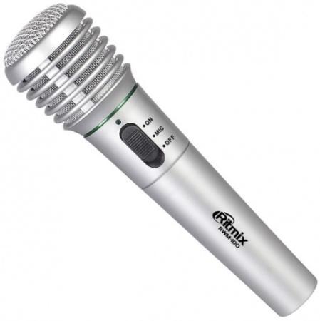 цена Микрофон Ritmix RWM-100 5м титан