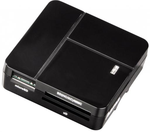 Фото - Картридер внешний Hama H-94124 для всех стандартов Basic USB 2.0 поддерживает SDXC черный клавиатура беспроводная hama roc3506 samsung usb черный
