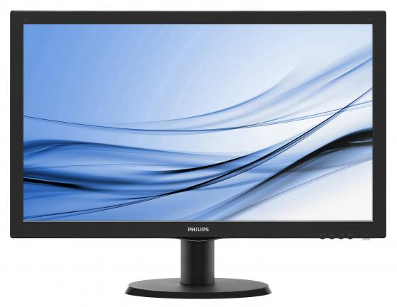 Монитор 23.6 Philips 243V5LHAB/00/01 черный TN 1920x1080 250 cd/m^2 5 ms DVI HDMI VGA Аудио монитор 21 5 asus ve228tlb черный tft tn 1920x1080 250 cd m^2 5 ms dvi vga аудио usb