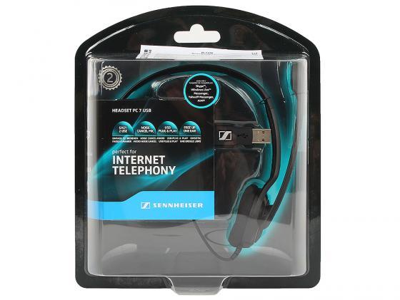 все цены на  Гарнитура Sennheiser PC 7 USB черный  онлайн