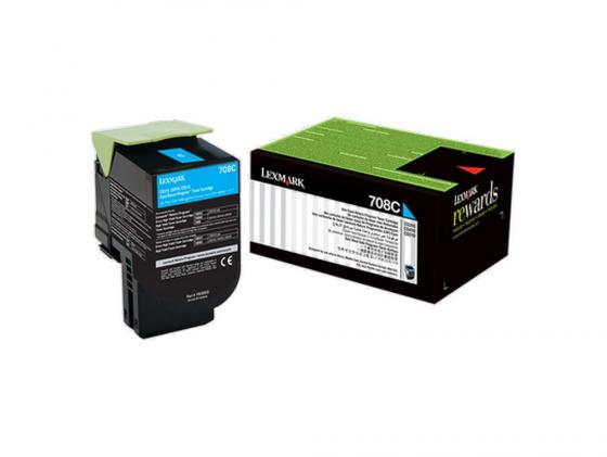 Картридж Lexmark 70C80C0 для CS310/CS410/CS510 голубой фотобарабан lexmark 70c0z50 для cs310 cs410 cs510 cx310 cx410 cx510 40000стр