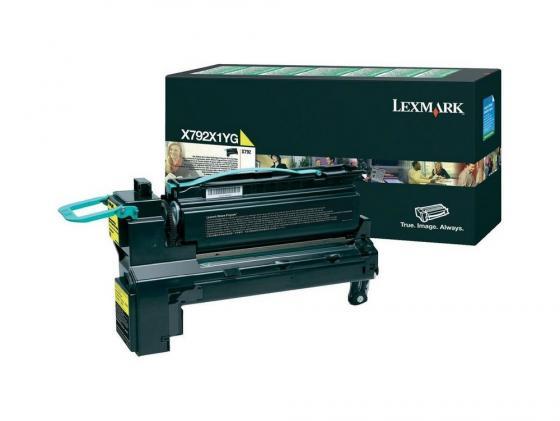 Картридж Lexmark X792X1YG для X792 желтый compatible toner lexmark c930 c935 printer laser use for lexmark refill toner c940 c945 toner bulk toner powder for lexmark x940