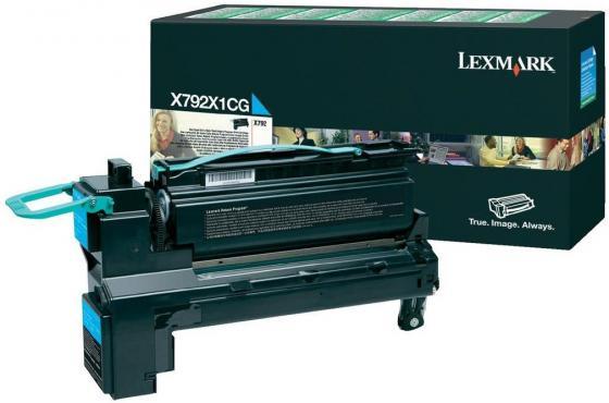Картридж Lexmark X792X1CG для X792 голубой картридж lexmark высокой емкости