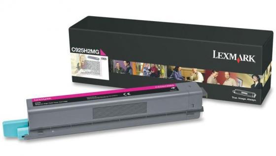 Картридж Lexmark C925H2MG для C925 пурпурный картридж lexmark c925h2kg для c925 черный