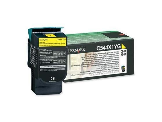 Картридж Lexmark C544X1YG для C544/X544 желтый compatible toner lexmark c930 c935 printer laser use for lexmark refill toner c940 c945 toner bulk toner powder for lexmark x940