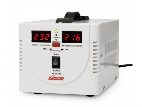 Стабилизатор напряжения Powerman AVS 500D 2 розетки белый цена 2017