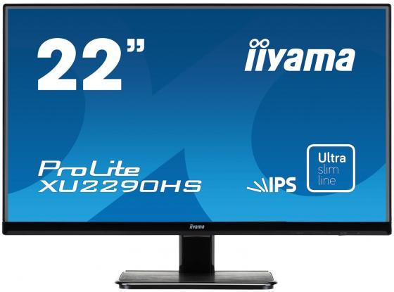 Монитор 21.5 iiYama XU2290HS-B1 черный AH-IPS 1920x1080 250 cd/m^2 5 ms DVI HDMI VGA Аудио
