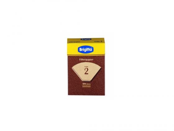 Фильтры бумажные Melitta(Brigita) размер 2 100шт коричневый 000253 фильтры бумажные melitta размер 4 80шт белый 0100961