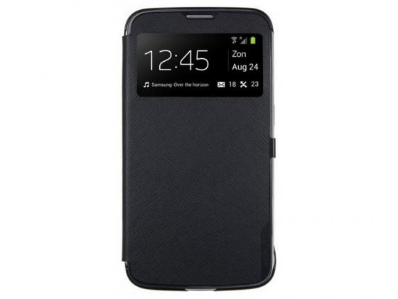 Чехол Anymode View Case для Samsung Galaxy Mega 6.3 i9200 полиуретан черный F-BSVC000RBK enkay matte pet screen protector protective film guard for samsung galaxy mega 6 3 i9200 i9208