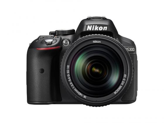 Зеркальная фотокамера Nikon D5300 Kit 18-140 VR 24Mp черный nikon d7100 18 140