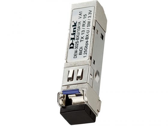 Трансивер сетевой D-Link DEM-302S-BXU/10A1A 1-port mini-GBIC 1000Base-BX SMF WDM трансивер сетевой d link 100base fx single mode 15km sfp transceiver 10 pack dem 210 10 b1a