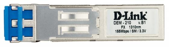 Трансивер сетевой D-Link 100BASE-FX Single-Mode 15KM SFP Transceiver 10 pack DEM-210/10/B1A модуль d link dem 220r 100base bx u single mode 20km sfp