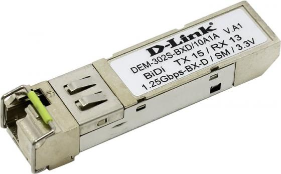 Трансивер сетевой D-Link 1-port mini-GBIC 1000Base-BX SMF WDM Bi-Directional up to 2km single mode 10-pack DEM-302S-BXD/10A1A трансивер d link dem 331r d1a 1port mini gbic 1000base lx smf wdm sfp 40km lc