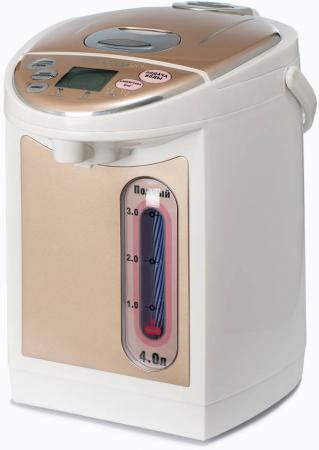 Термопот Brand 4404S 750 Вт белый коричневый 4 л пластик цена и фото