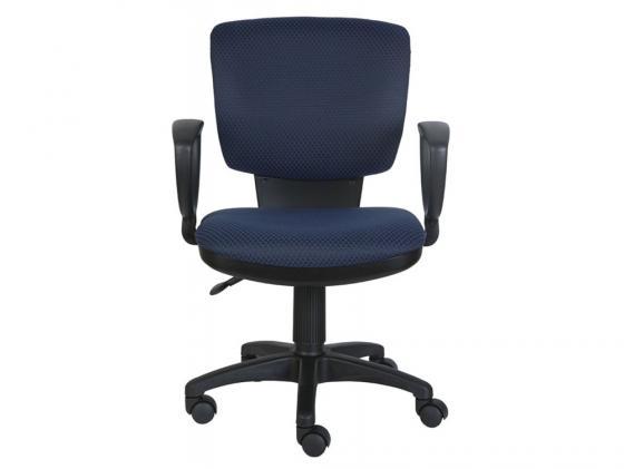 Кресло Buro CH-626AXSN/V-03-1 ромбик черно-синий мэрдэс рабочее кресло менеджер черно синий