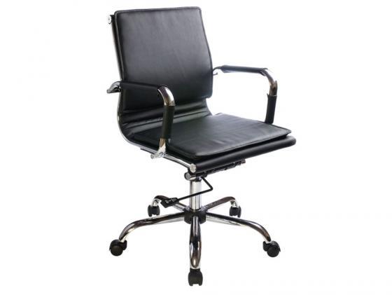 Кресло Buro CH-993-Low/Black низкая спинка искусственная кожа черный кресло buro ch 868axsn black пластик темно серый черная искусственная кожа