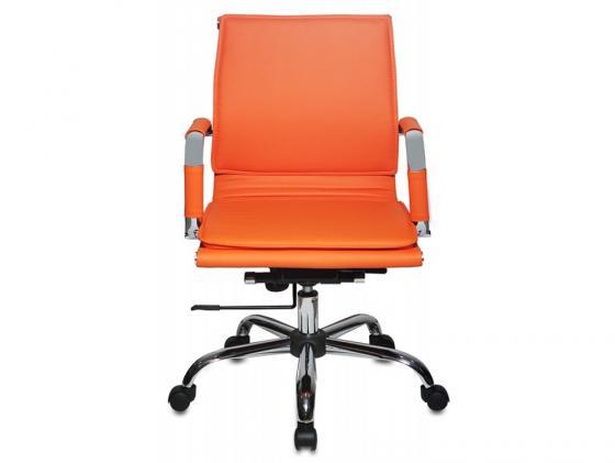 Кресло Buro CH-993-Low/orange низкая спинка искусственная кожа оранжевый кресло бюрократ ch 993 low v оранжевый