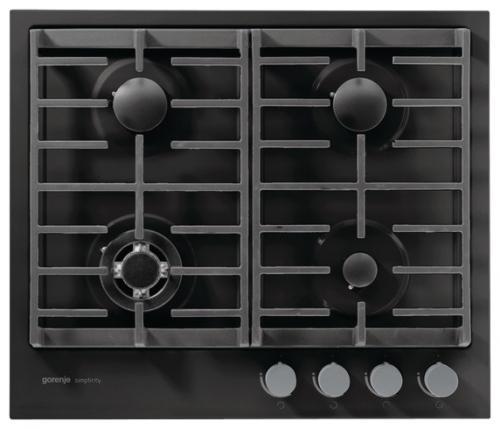 Варочная панель газовая Gorenje G6SY2B черный варочная панель fornelli pgt 45 adamello iv