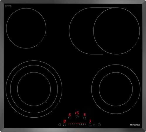 Варочная панель электрическая Hansa BHC63906 черный варочная панель электрическая hansa bhiw67303 черный