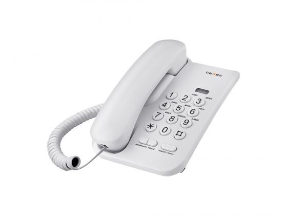Телефон проводной Texet ТХ-212 светло-серый texet tx d6705a