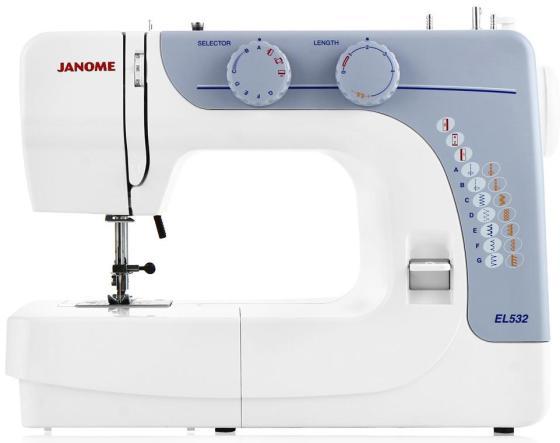 Швейная машина Janome EL532 бело-голубой швейная машинка janome sew mini deluxe