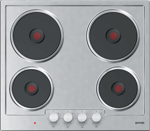 Варочная панель электрическая Gorenje E6N1BX серебристый варочная панель комбинированная gorenje k6n20ix серебристый