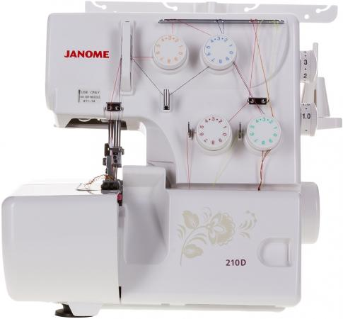 Оверлок Janome 210D белый