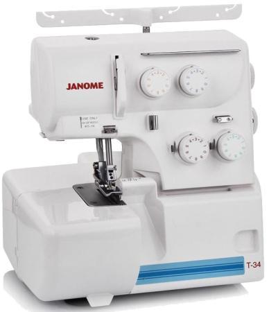 Оверлок Janome T34 белый цены