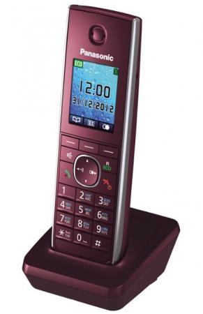 Дополнительная трубка DECT Panasonic KX-TGA855RUR красный к телефонам серии KX-TG85хx дополнительная трубка dect panasonic kx tga855rub черный к телефонам серии kx tg85хx