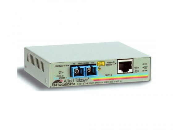 Медиаконвертер Allied Telesis AT-FS202-60 10/100TX RJ-45 to 100FX SC 2 port медиаконвертер allied telesis at mc103xl 60 100tx rj 45
