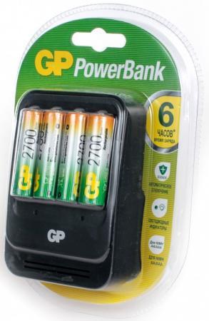 Зарядное устройство + аккумуляторы 2700 mAh GP PB570GS270-2CR4 AA 4 шт цена и фото