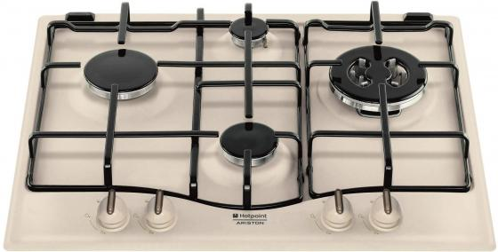 Варочная панель газовая Ariston 7HPC 640 T OW R/HA бежевый встраиваемая газовая варочная панель hotpoint ariston 7hpc 640 t ow r ha