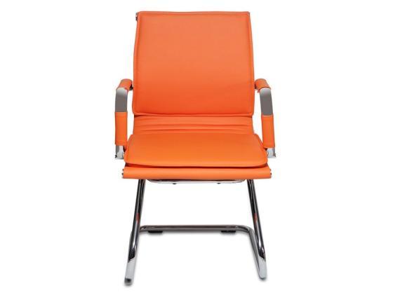 Кресло Buro CH-993-Low-V/orange низкая спинка оранжевый искусственная кожа полозья хром цены