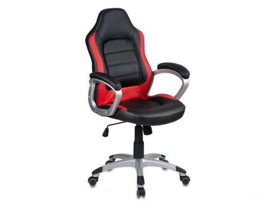 Кресло Buro CH-825S/Black+Rd черный красный искусственная кожа пластик серебро кресло buro ch 825s black rd черный красный искусственная кожа пластик серебро
