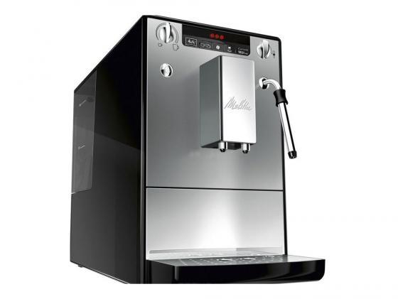 Кофеварка Melitta Е 953-102 серебристый/черный кофемашина melitta е 950 101 1400вт 1 2л черный серебристый