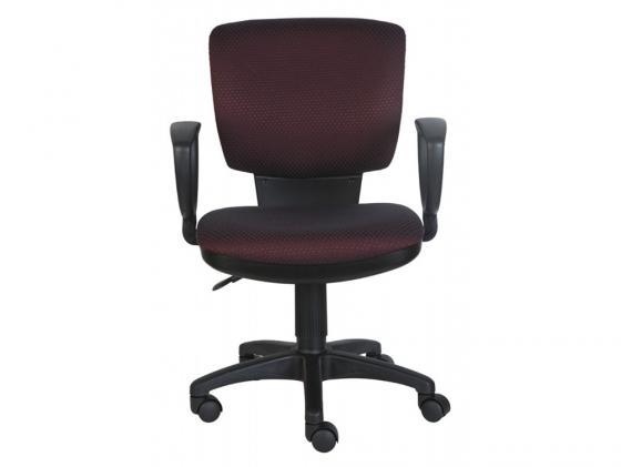 Кресло Buro CH-626AXSN/V-02 ромбик черно-красный