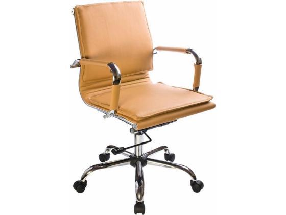 Кресло Buro CH-993-Low/Camel низкая спинка светло-коричневый искусственная кожа крестовина хром цены